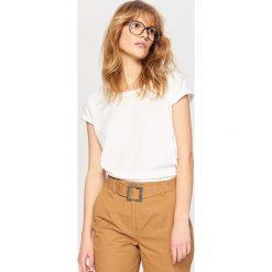 T-shirt z bawełny organicznej - Biały. Białe t-shirty damskie Reserved, z bawełny. Za 24.99 zł.