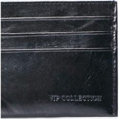 VIP COLLECTION - Portfel skórzany Milano. Czarne portfele męskie VIP COLLECTION, z materiału. W wyprzedaży za 24.90 zł.