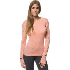 Lniana koszulka w kolorze koralowym. Bluzki damskie Benetton, z długim rękawem. W wyprzedaży za 107.95 zł.