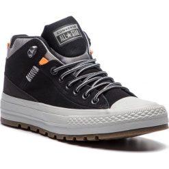 Trampki CONVERSE - Ctas Street Boot Hi 162360C Black/Black/Dolphin. Czarne trampki męskie Converse, z gumy. W wyprzedaży za 289.00 zł.