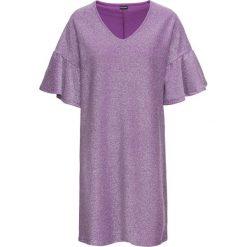 Sukienka z dżerseju z połyskiem bonprix fiołkowo-srebrny. Fioletowe sukienki damskie bonprix, z dżerseju. Za 99.99 zł.