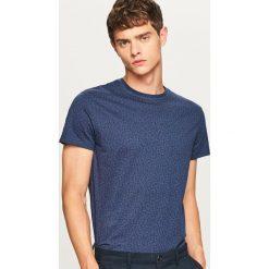 T-shirt we wzory - Granatowy. Niebieskie t-shirty męskie Reserved. W wyprzedaży za 24.99 zł.