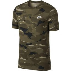 Nike T-Shirt Męski M Nsw Tee Camo Pack 1/Neutral Olive/Medium Olive/White Xl. Białe t-shirty męskie Nike, z bawełny. Za 119.00 zł.