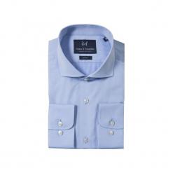 KOSZULA BLUE CUTAWAY. Niebieskie koszule męskie Guns&tuxedos, z kwadratowym dekoltem. Za 129.99 zł.