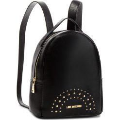 Plecak LOVE MOSCHINO - JC4117PP16LU000A Nero/Oro. Czarne plecaki damskie Love Moschino, ze skóry ekologicznej, eleganckie. Za 719.00 zł.