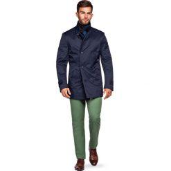 Płaszcz Navy Apollos. Niebieskie płaszcze męskie LANCERTO, na zimę, z syntetyku, eleganckie. Za 799.90 zł.