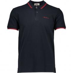 Koszulka polo w kolorze czarnym. Czarne koszulki polo męskie Ben Sherman, z haftami, z bawełny. W wyprzedaży za 108.95 zł.