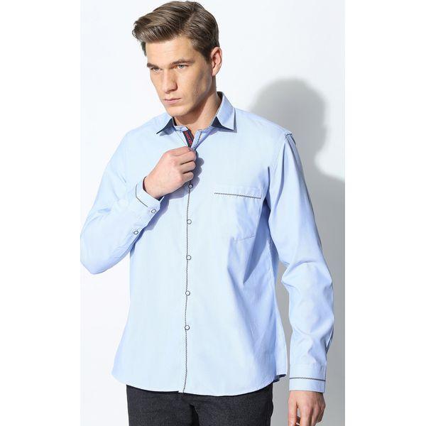 1340cb7c89da46 Jasnoniebieska Koszula Unique Line - Szare koszule męskie Born2be, z ...