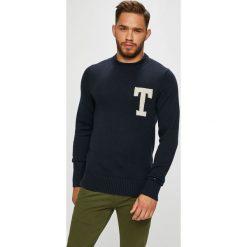 Tommy Hilfiger - Sweter. Czarne swetry przez głowę męskie Tommy Hilfiger, z bawełny, z okrągłym kołnierzem. Za 539.90 zł.