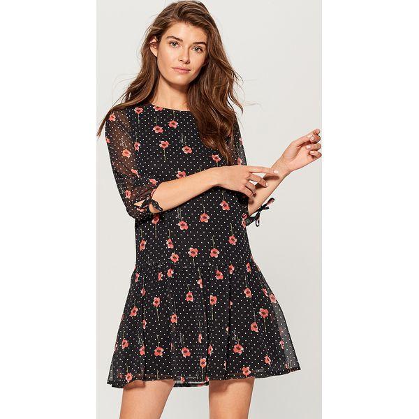 5a5616cf Sukienka mini w kwiaty - Wielobarwn