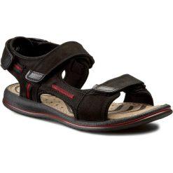 Sandały GREGOR - 01630-ME-NT10 Czarny/Czerwony. Czarne sandały męskie Gregor, z materiału. W wyprzedaży za 149.00 zł.