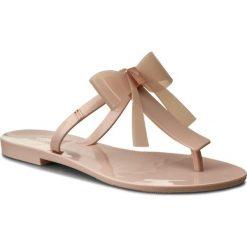Japonki MELISSA - T Bar V Ad 31926 Light Pink 01276. Brązowe klapki damskie Melissa, z materiału. W wyprzedaży za 159.00 zł.