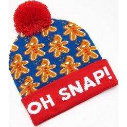 Czapka świąteczna ze światełkami LED - Niebieski. Niebieskie czapki i kapelusze męskie Cropp. Za 39.99 zł.