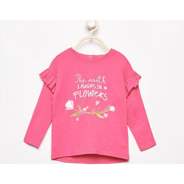 71997851fd Bluzka z nadrukiem - Różowy - Bluzki dla dziewczynek marki Reserved ...