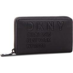 Duży Portfel Damski DKNY - Md Zip Around R832Z636 Blk/Black BBL. Czarne portfele damskie DKNY, ze skóry ekologicznej. Za 419.00 zł.