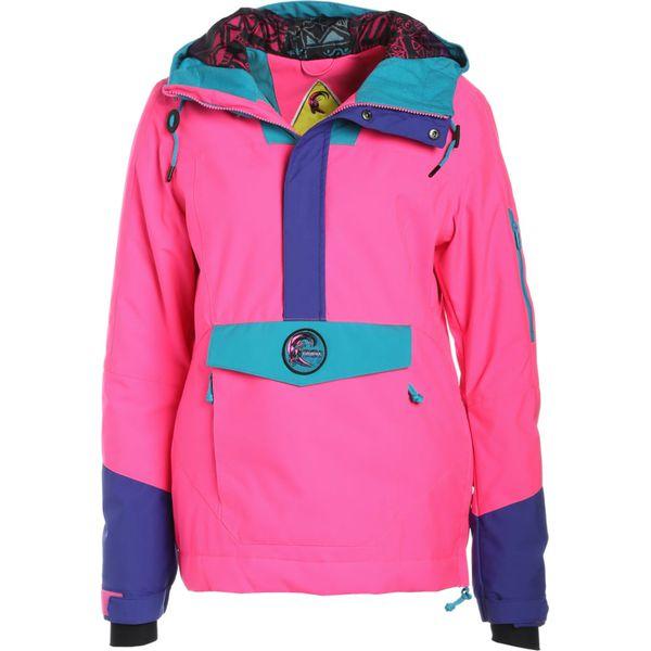 Pink O'neill Kurtki Kurtka Wave Frozen Snowboardowa Neon XiPkuTOZ