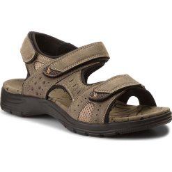 Sandały LANETTI - MS17012-2 Khaki. Brązowe sandały męskie Lanetti, z materiału. W wyprzedaży za 79.99 zł.