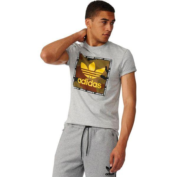 27865f10e8587 Adidas Koszulka męska T-Shirt Camo Box Tee szara r. S (AZ1086) - T ...