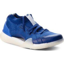 Buty adidas - PureBoost X Trainer 3.0 DA8967 Mysblu/Aerblu/Hirblu. Niebieskie obuwie sportowe damskie Adidas, z materiału. W wyprzedaży za 419.00 zł.