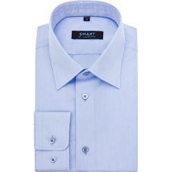 Koszula Niebieska Smart by Lancerto. Niebieskie koszule męskie LANCERTO, z bawełny, z klasycznym kołnierzykiem. Za 199.90 zł.