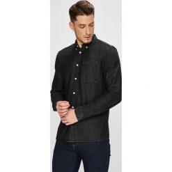 Review - Koszula. Czarne koszule męskie Review, z bawełny, button down, z długim rękawem. W wyprzedaży za 89.90 zł.
