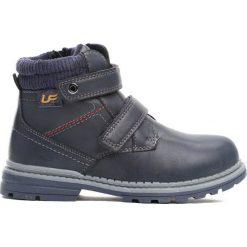 Granatowe Traperki Oppidan. Niebieskie buty zimowe chłopięce Born2be, z materiału. Za 79.99 zł.