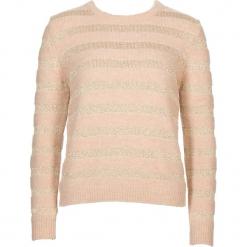 Sweter w kolorze beżowo-złotym. Brązowe swetry damskie Gottardi, z wełny, z okrągłym kołnierzem. W wyprzedaży za 173.95 zł.