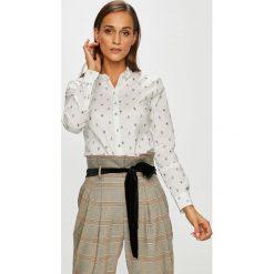 Tommy Hilfiger - Koszula Ria. Szare koszule damskie Tommy Hilfiger, z bawełny, casualowe, z klasycznym kołnierzykiem, z długim rękawem. Za 359.90 zł.