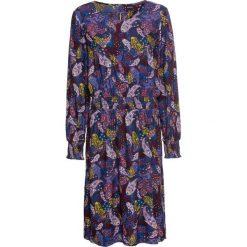 """Sukienka boho z nadrukiem: MUST HAVE bonprix ciemnoniebieski """"paisley"""". Niebieskie sukienki damskie bonprix, z nadrukiem, boho, z okrągłym kołnierzem. Za 99.99 zł."""