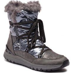 Śniegowce MARCO TOZZI - 2-26831-21 Dk.Grey Comb. Szare kozaki damskie Marco Tozzi, ze skóry ekologicznej. Za 269.90 zł.