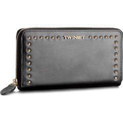 Duży Portfel Damski TWINSET - AS8PMC Nero 00006. Czarne portfele damskie Twinset, ze skóry. W wyprzedaży za 399.00 zł.