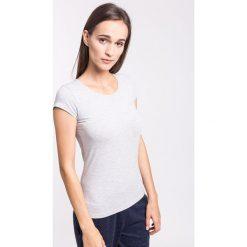 T-shirt damski TSD001z - jasny szary melanż. T-shirty damskie marki DOMYOS. W wyprzedaży za 29.99 zł.