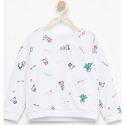 Bluza z nadrukiem kaktusów - Biały. Bluzy dla niemowląt Reserved, z nadrukiem. Za 24.99 zł.