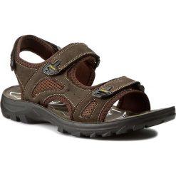 Sandały GINO ROSSI - MN2376-TWO-BNTK-3737-T 92/92. Brązowe sandały męskie Gino Rossi, z materiału. W wyprzedaży za 119.00 zł.