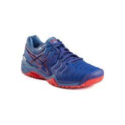 Buty tenisowe Asics Gel Resolution 7 męskie. Szare buty sportowe męskie Asics. W wyprzedaży za 349.99 zł.