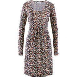 Sukienka shirtowa z długim rękawem bonprix ciemnoniebieski w kwiaty. Sukienki damskie marki MAKE ME BIO. Za 89.99 zł.