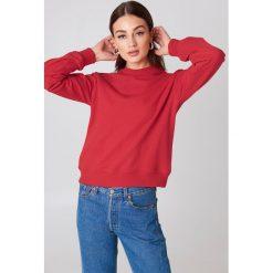 NA-KD Basic Bluza basic - Red. Czerwone bluzy damskie NA-KD Basic, z dresówki. Za 100.95 zł.