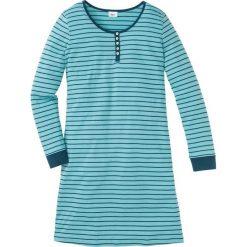 Koszula nocna, bawełna organiczna bonprix niebieskozielony - zielony w paski. Niebieskie koszule nocne damskie bonprix, w paski, z bawełny. Za 59.99 zł.