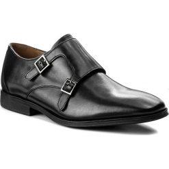 Półbuty CLARKS - Gilman Step 261276647 Black Leather. Czarne eleganckie półbuty Clarks, z materiału. W wyprzedaży za 319.00 zł.