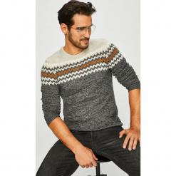 Blend - Sweter. Szare swetry przez głowę męskie Blend, z dzianiny, z okrągłym kołnierzem. Za 169.90 zł.