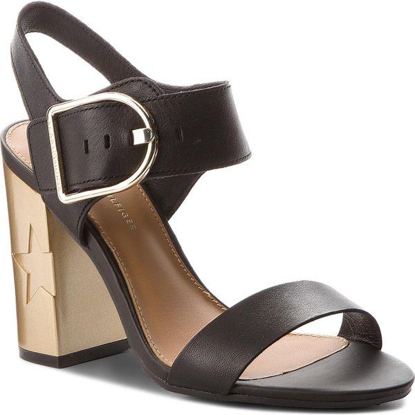 6cbbd5503292b Sandały TOMMY HILFIGER - Feminine Heel Oversized Buckle FW0FW02578 ...
