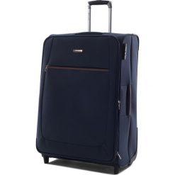 Duża Materiałowa Walizka PUCCINI - EM 50405 A 7 Blue. Niebieskie walizki męskie Puccini, z materiału. W wyprzedaży za 209.00 zł.