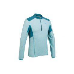 Koszulka turystyczna długi rękaw MH550 męska. Niebieskie bluzki z długim rękawem męskie QUECHUA, z elastanu. W wyprzedaży za 19.99 zł.