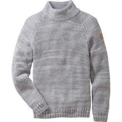 Sweter ze stójką Regular Fit bonprix szary melanż. Swetry przez głowę męskie marki Giacomo Conti. Za 89.99 zł.