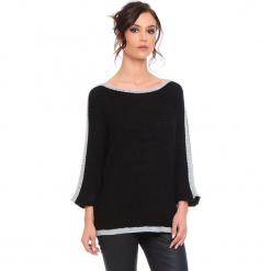 """Sweter """"Cecile"""" w kolorze czarnym. Czarne swetry damskie Cosy Winter, ze splotem, z okrągłym kołnierzem. W wyprzedaży za 159.95 zł."""