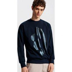 Bluza z nadrukiem - Granatowy. Niebieskie bluzy dla chłopców Reserved, z nadrukiem. Za 79.99 zł.