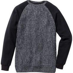 Sweter z rękawami i tyłem z dzianiny dresowej Slim Fit bonprix czarny. Swetry przez głowę męskie marki Giacomo Conti. Za 59.99 zł.