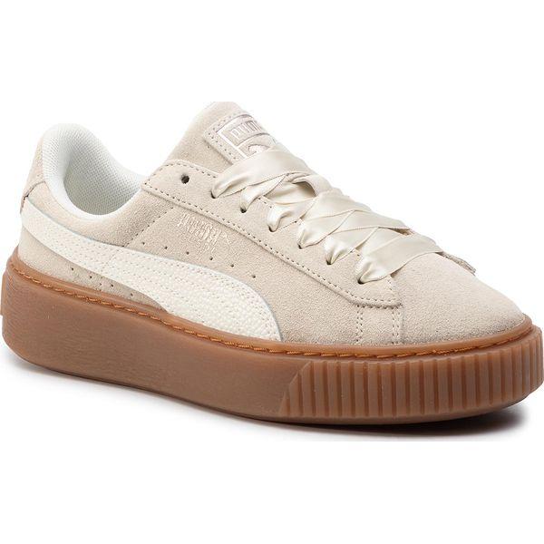 Sneakersy PUMA Suede Platform Bubble Wn's 366439 02 Marshmallow