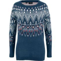 Sweter bonprix ciemnoniebieski wzorzysty. Swetry damskie marki bonprix. Za 89.99 zł.