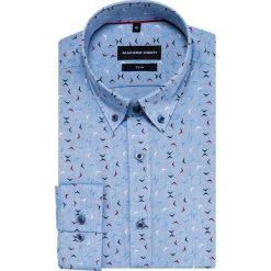 Koszula SIMONE slim KDWS000408. Niebieskie koszule męskie Giacomo Conti, z bawełny, button down. Za 169.00 zł.